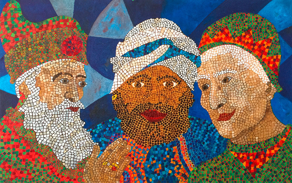 Illustration zu »We three kings of Orient are« von Frank Walka