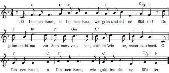 Noten Von O Tannenbaum.O Tannenbaum Im Liederprojekt