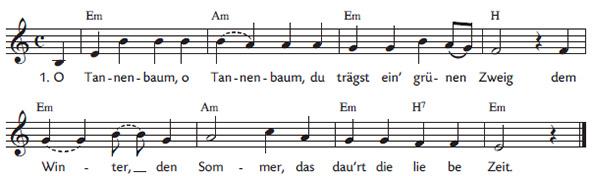 Liedtext O Tannenbaum.O Tannenbaum Du Trägst Ein N Grünen Zweig Im Liederprojekt